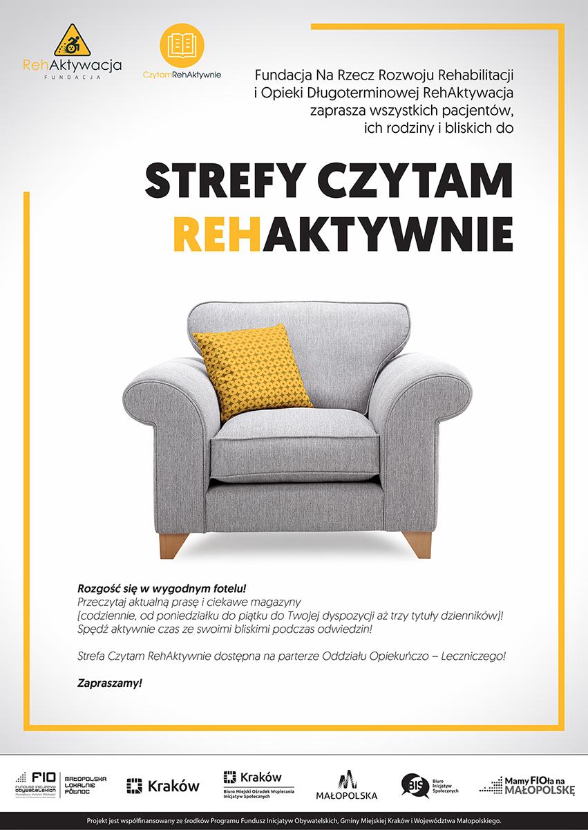Plakat - Czytam Rehaktywnie